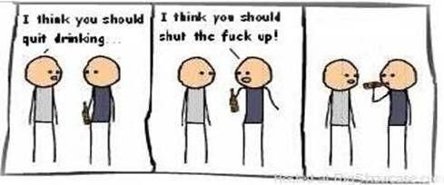 Drinking cartoon